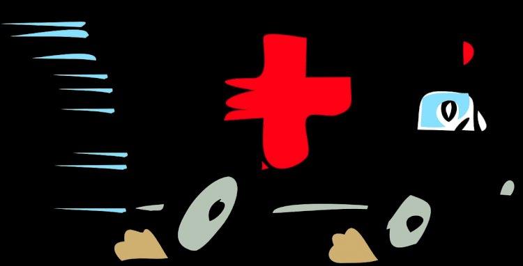 Ambulans Di Hari Yang Hujan